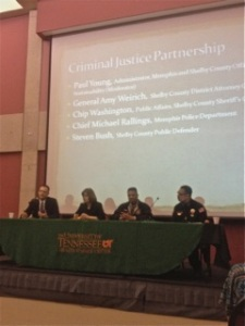 "Criminal justice panel for ""Healing the Broken Village"" conference at U-T Health Science Center"