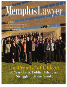 Cover of Memphis Lawyer magazine (2013)