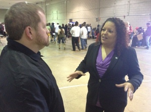 April Buckner (right) with the Tennessee Department of Correction is the main organizer for the re-entry fair.