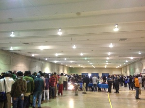 Lines of people seeking help at the TN Dept. of Correction's first re-entry fair. October 2013.
