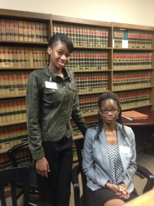 MBA interns Nicole Weir (left) and Tashara Brown with the Shelby County Public Defender's Office